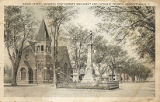 Broad Street, Showing Confederate Monument and Catholic Church, Georgetown, S.C.
